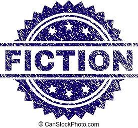 arranhado, selo, selo, textured, ficção
