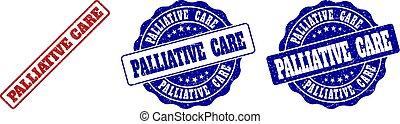 arranhado, selo, selos, cuidado paliativo