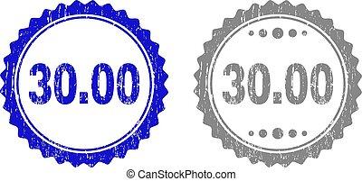 arranhado, selo, selos, textured, 30.00, fita