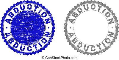 arranhado, selo, selos, textured, rapto, fita