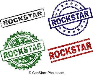 arranhado, selo, selos, textured, rockstar