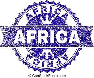 arranhado, selo, textured, áfrica, selo, fita