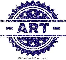 arranhado, selo, textured, arte, selo