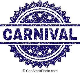arranhado, selo, textured, carnaval, selo