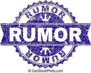 arranhado, selo, textured, fita, selo, rumor