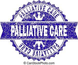 arranhado, selo, textured, selo, palliative, fita, cuidado