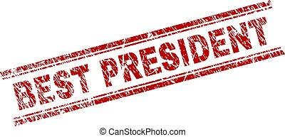 arranhado, selo, textured, selo, presidente, melhor