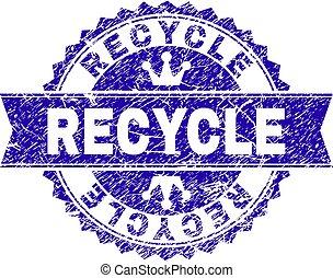 arranhado, selo, textured, selo, recicle, fita