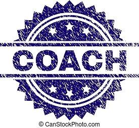 arranhado, selo, treinador, textured, selo