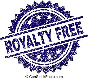 arranhado, textured, royalty livre, selo, selo