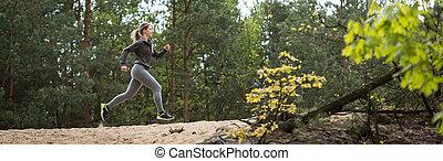 arrastre correr, bosque