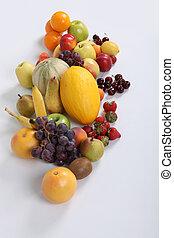 Array of fresh fruit