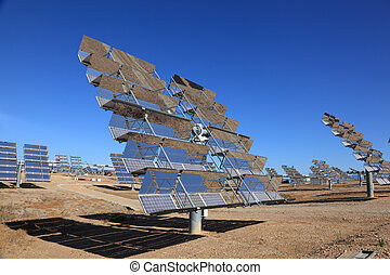 Array of photovoltaic panels of a Solar Power Station