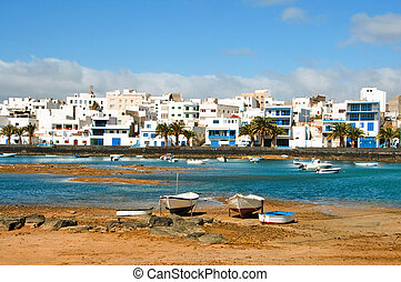 arrecife, canary islands - a view of Maritm ride from...