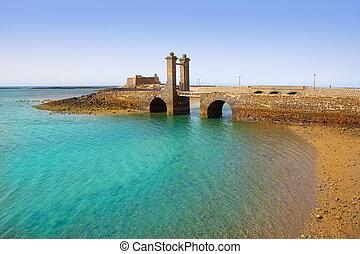 Arrecife Lanzarote castle and bridge - Arrecife Lanzarote ...