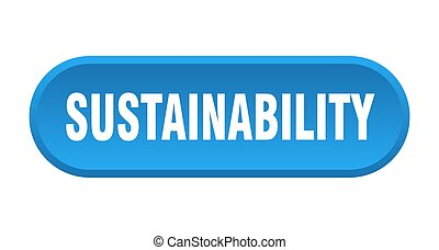 arredondado, branca, sustainability, fundo, button., sinal