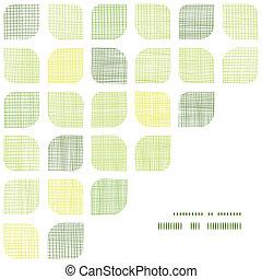 arredondado, padrão, abstratos, têxtil, experiência verde, ...