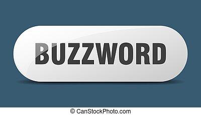 arredondado, sticker., vidro, buzzword, button., sinal, ...