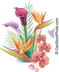 arreglo, de, flores