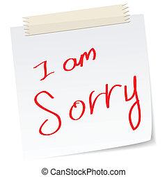 arrependido, desculpas