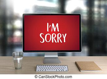 arrependido, perdoar, pesar, oops, falha, falso, falha,...