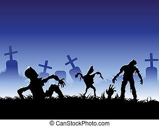 arrepiado, zombie