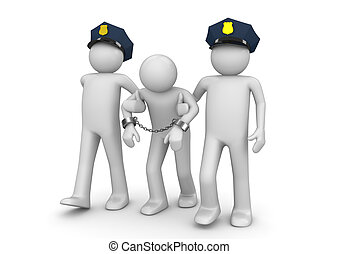 Arrested outlaw - Legal collection - 3d characters isolated...