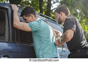 Arresting irresponsible man