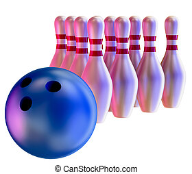 arresto, skittles, palla, bowling