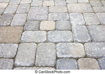 arrière-cour, béton, patio, pavers