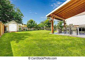 arrière-cour, patio, secteur