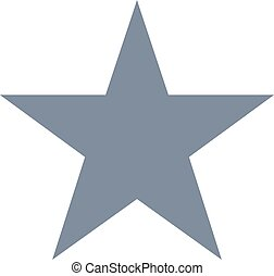arrière-plan., étoile, blanc, vecteur, isolé, icône