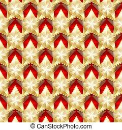 arrière-plan., étoiles, seamless, or, rouges