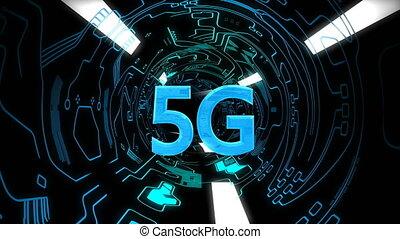 arrière-plan animation, 5g, connectivité