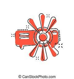 arrière-plan., appareil, conférence, icône, effect., ...