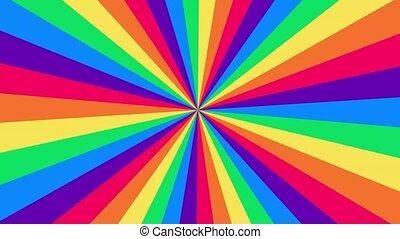 arrière-plan., arc-en-ciel, résumé, psychédélique, optique, wallpaper., clair, animé, faire boucle, coloré, spectre, illusion., hypnotique
