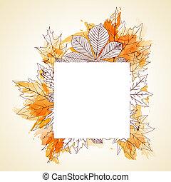 arrière-plan., automne, résumé