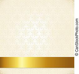 arrière-plan beige, damassé