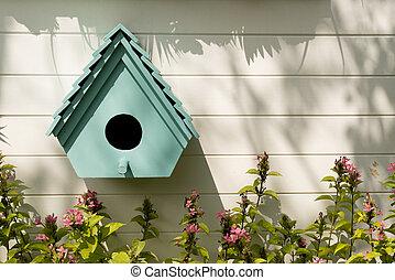 arrière-plan., birdhouses