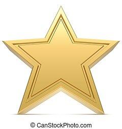 arrière-plan., blanc, étoile, isolé, five-point