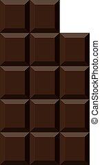 arrière-plan., blanc, barre, isolé, chocolat