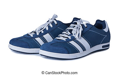 arrière-plan., blanc, chaussures sport