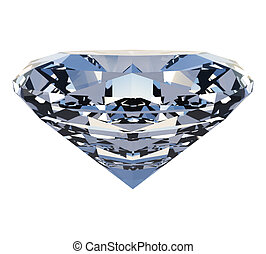 arrière-plan., blanc, diamant, poli, isolé