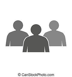 arrière-plan., blanc, gens, icône