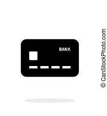 arrière-plan., blanc, icône, carte, crédit