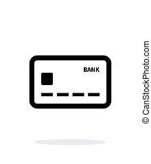 arrière-plan., blanc, icône, carte, débit