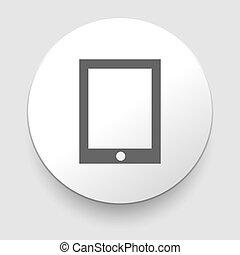 arrière-plan., blanc, icône, pc tablette