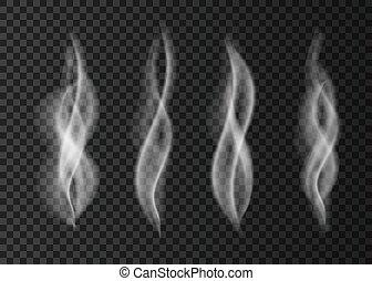 arrière-plan., blanc, isolé, fumée, transparent