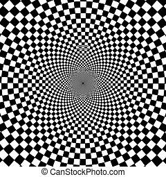 arrière-plan., blanc, noir, hypnotique