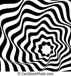 arrière-plan., blanc, optique, art, noir
